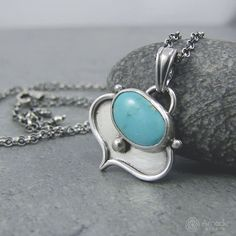 Little, oriental pendant with amazing blue turquoise from Armenia. --- #amadestudio #handmade #handmadejewelry #silverart #silvercraft #handcraftedart #silverjewelry #uniquejewelry #oriental #gemstonejewelry
