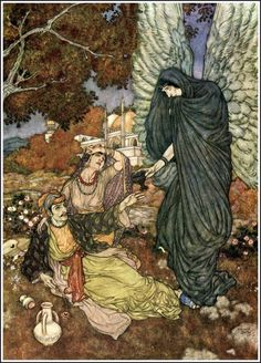 Plate for the Rubaiyat of Omar Khayyam, illustrated by Edmund Dulac, 1909. | Null Entropy