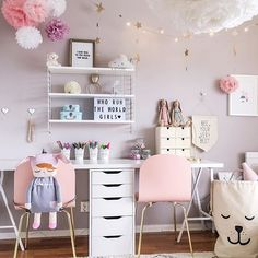 A pretty little girl's room | Steing Pocket and A4 Lightbox are all available at www.istome.co.uk