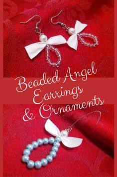Angel Ornaments to Make with Ribbon and Beads Christmas Angel Ornaments, Beaded Ornaments, Diy Christmas Gifts, Handmade Christmas, Diy Christmas Jewelry, Christmas Poinsettia, Crochet Ornaments, Crochet Snowflakes, Diy Angels