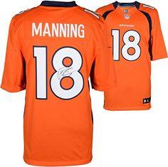 Peyton Manning Denver Broncos Autographed Nike Limited Orange Jersey - Fanatics Authentic Certified - Autographed NFL Jerseys