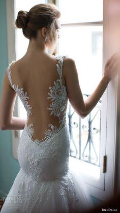 RIKI DALA #bridal 2016 sleeveless plunging sweetheart lace straps embellished bodice #mermaid #wedding dress (1808) zbv #elegant #romantic train #wedding #weddings #engaged #weddingdress #weddinggown #lace