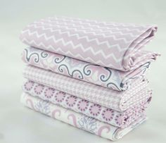 Fat Quarters of Fabric Lilac Ring a Roses Notting by GreenCallow