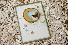 Karte mit herziger Baumscheibe, Stampin' Up!, Gorgeous Grunge, Hochzeit, Hochzeitskarte, Danke