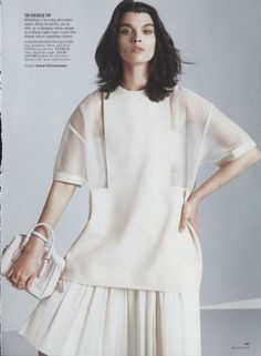 The Shape of Clothes to Come - Glamour February 2014