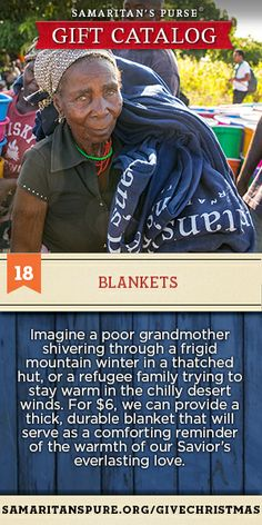 Just $6 will provide a thick, durable blanket that will serve as a reminder of the warmth of our Savior's love