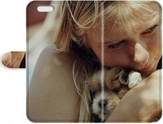 Lovers Gifts New Style Cute Appearance Cover/Leather iPhone SE/iPhone 5/5s Leather Case For blondes women animals dogs puppies maria sharapova portrait tennis cuddling ** Read more reviews of the product by visiting the link on the image.