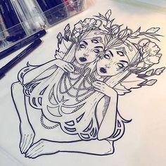 2060be0906791803a2c8db55f8bac936--gemini-tattoos-gemini-twins-tattoo.jpg (640×640)
