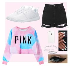 """""""Pink"""" by ox-marcie-xo on Polyvore featuring Chicnova Fashion, Topshop, Swarovski, women's clothing, women's fashion, women, female, woman, misses and juniors"""
