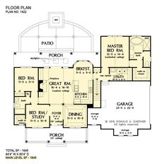 House plans 2500 sq ft layout ideas for 2020 Craftsman Style House Plans, Ranch House Plans, Cottage House Plans, House Floor Plans, Farm House, Tiny House, House Plans One Story, One Story Homes, Farmhouse Plans
