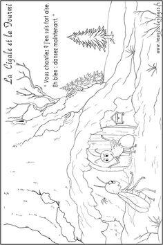 coloriages de la fable La Cigale et la Fourmi