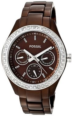 Fossil Watch , Fossil Women's ES2949 Stainless Steel Analog Brown Dial Watch
