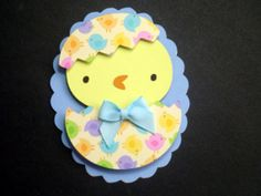 Easter Chick in Egg Happy Easter Card Three by BethiesCards, $6.25