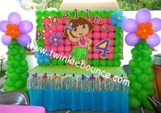 Dora The Explorer Birthday Party Balloon Decoration Photo by twinkiebounce | Photobucket