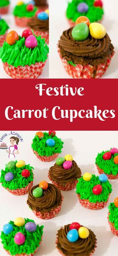 Easter is all about carrots, eggs, and bunnies so why not make these festive Easter Egg Cupcakes made with my carrot cupcake recipe, frosted to look like Easy Cake Recipes, Best Dessert Recipes, Brownie Recipes, Cupcake Recipes, Easy Desserts, Gourmet Recipes, Holiday Recipes, Delicious Desserts, Cupcake Cakes