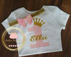 Check out this item in my Etsy shop https://www.etsy.com/ca/listing/398205853/pink-and-gold-onesie-princess-onesie-1st