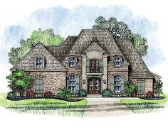 Plan W14127KB: French Country, European, Southern House Plans & Home Designs
