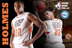 Former Bowling Green State University men's basketball standout Richaun Holmes was selected at pick No. 37 by the Philadelphia 76ers in the 2015 National Basketball Association (NBA) Draft on Thursday night, June 25, held at the Barclays Center in Brooklyn, New York.