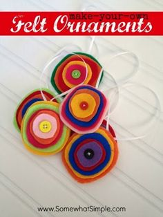 DIY Felt Ornaments by Somewhat Simple