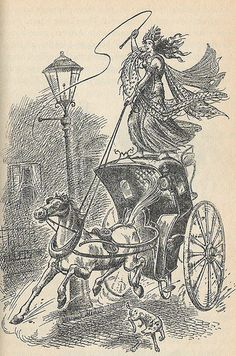 Pauline Baynes' illustration of the Queen of Charn causing chaos on the streets of London, from The Magician's Nephew. Jadis The White Witch, Chronicles Of Narnia Books, The Magicians Nephew, Street Magic, Cs Lewis, Queen, Wallpaper, Illustrators, Fairy Tales