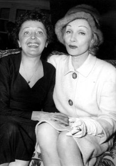 marlene dietrich and edith piaf - marlene dietrich and edith piaf ` marlene dietrich edith piaf Marlene Dietrich, Rita Hayworth, Marylin Monroe, Cabaret, Hollywood Actresses, Actors & Actresses, Divas, Music Manuscript, My Buddy