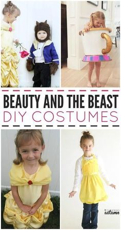"Looking to create a little ""be our guest"" magic for your kids ? These Beauty and the Beast DIY costumes are sure to sweep your little prince and princess off their feet!"