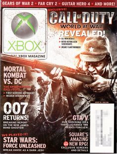 The official xbox magazine introduce the new games of xbox