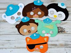 Octonauts inspired party mask by MyWonderlandBoutique on Etsy