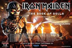 The Book Of Souls World Tour in 2017 - 16 date European/UK Tour with @IronMaiden and @Shinedown! Tickets go on sale Friday September 30th!   #Shinedown #IronMaiden
