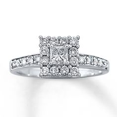 Previously Owned Ring 5/8 ct tw Diamonds 14K White Gold