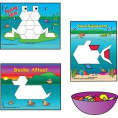 Search: pattern blocks - The Mailbox Kindergarten Rocks, Preschool Math, Math Classroom, Math Activities, Maths, Tools For Teaching, Teaching Math, Teaching Ideas, Pond Animals
