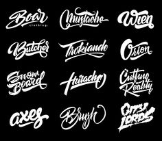 pack of hand drawn lettering done recently - commercial and personal as well.