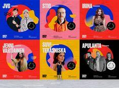 New Music Festival Branding Design Ideas Banner Design, Layout Design, Web Design, Brand Design, Email Design, Creative Design, Logo Design, Graphic Design Posters, Graphic Design Inspiration