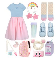 Fairy kei 💖 ⭐ ️✨ in 2019 super kawaii j fashion одежда, а Cute Girl Outfits, Cute Outfits For Kids, Cute Casual Outfits, Girls Fashion Clothes, Teen Fashion Outfits, Girl Fashion, Pastel Goth Fashion, Kawaii Fashion, Ropa Hip Hop