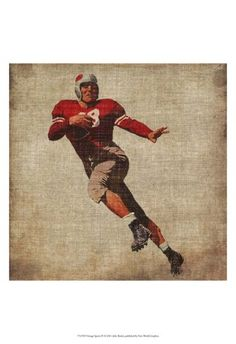 Maybe for Ezra's nursery- Vintage Sports IV Prints by John Butler at AllPosters.com