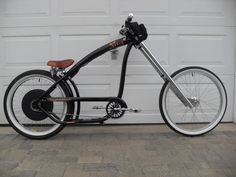 Nirve Switchblade Chopper cruiser bike, with a custom electric bicycle conversion