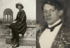 """Picasso and Marie-Thérèse Walter met by chance on the street while she was shopping at Galeries Lafayette in Paris in 1927. Walter was 17 and he was 45 when they began their eight year secret relationship.  From 1930, Walter lived in a house across the street from Picasso. Marie was the unseen shadow of the family and became his model and muse for both paintings and sculptures."""