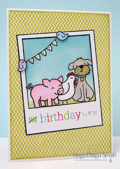 "Lawn Fawn Say Cheese, Critters in the ""Burbs, Critters on the Farm, Smitty's ABCs _ Birthday Critters by Vera Wirianta Yates, via Flickr"