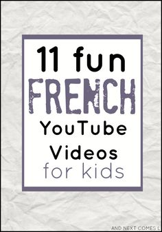 11 fun french your tube videos for kids Francais I Study French, French Kids, Core French, Learning French For Kids, French Language Learning, French Games For Kids, French Language Lessons, Learning Italian, German Language