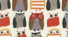 Owls by Dear Stella  1/2 Yard  Fabric  Owl Fabric  by Owlanddrum, $5.25
