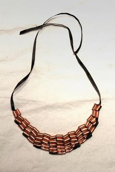 .:* L - DIY Rose Gold Hardware Necklace -- by Stripes & Sequins. The variation possibilities here are endless!