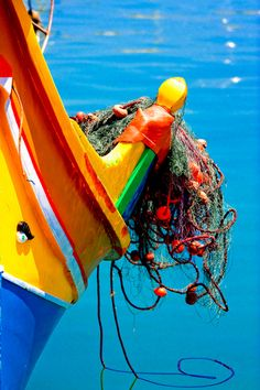 The Luzzu - Maltese Fishing Boat (with net)