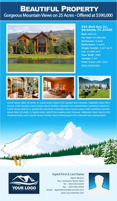 Professionally Designed Real Estate & Mortgage Brokers Email Flyer ...