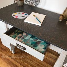 Gray on Gray Desk   General Finishes Design Center