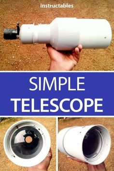 Easily stargaze with your homemade telescope made from PVC pipe! Pvc Projects, Engineering Projects, Outdoor Projects, Projects To Try, Learn Woodworking, Woodworking Projects, Woodworking Plans, Diy Telescope, Homemade Weapons
