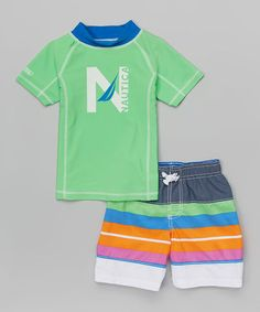Another great find on #zulily! Greenway Rashguard Set - Toddler & Boys by Nautica #zulilyfinds