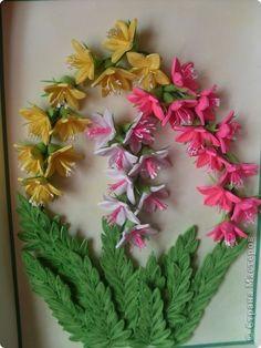 Картина панно рисунок День рождения Квиллинг Колокольчики от lora 34 Бумага Проволока фото 6