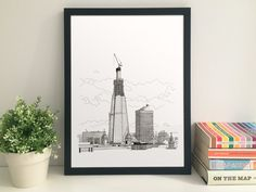 The Shard Under Construction 30 x 21 cm fine art by thisismikehall