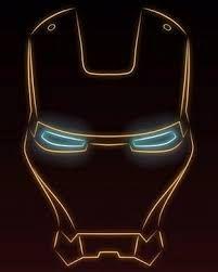 Resultado de imagem para iron man face desenho