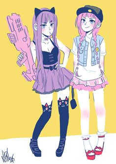 Alexisneo Art Blog I'd wear the outfit on the right with the colors of the left :3c